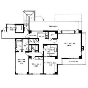 品川区大崎-2LDK公寓 楼层布局