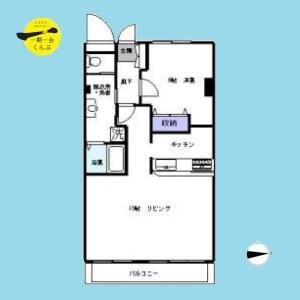 1LDK {building type} in Nakane - Meguro-ku Floorplan