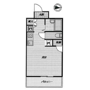 1R Mansion in Katakura - Yokohama-shi Kanagawa-ku Floorplan