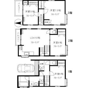 4LDK House in Megurohoncho - Meguro-ku Floorplan