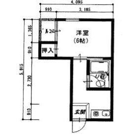 1DK Mansion in Nakanocho - Osaka-shi Miyakojima-ku Floorplan