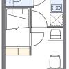在名古屋市中村區內租賃1K 公寓大廈 的房產 房間格局