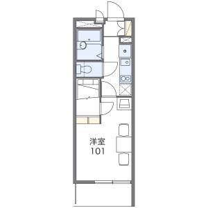 名古屋市中村區中島町-1K公寓大廈 房間格局
