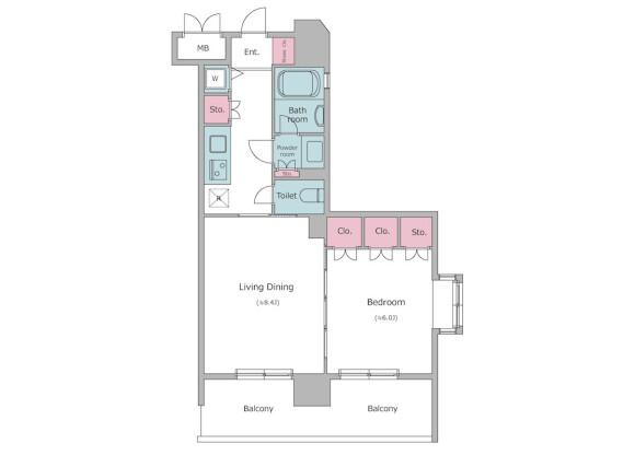 在文京區內租賃1LDK 公寓大廈 的房產 房間格局