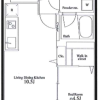 1LDK Apartment to Rent in Sapporo-shi Chuo-ku Floorplan