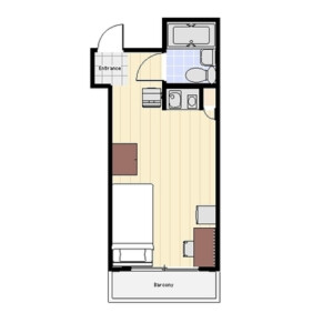 1R Mansion in Higashiikebukuro - Toshima-ku Floorplan