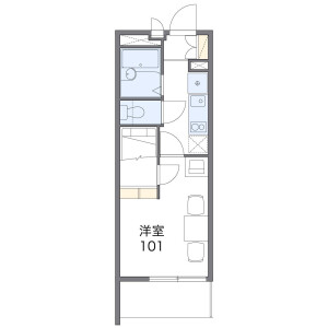 1K Mansion in Minamisumiyoshi - Osaka-shi Sumiyoshi-ku Floorplan
