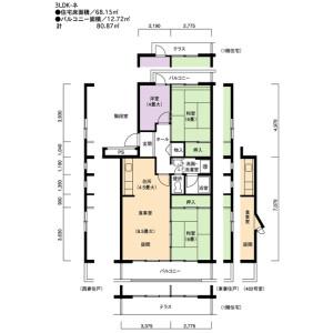 3LDK Apartment in Motoyagoto - Nagoya-shi Tempaku-ku Floorplan