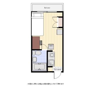1R Mansion in Sumiyoshicho - Shinjuku-ku Floorplan