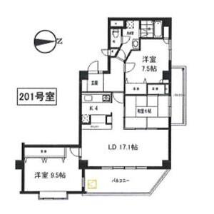 3LDK Apartment in Shimmachi - Setagaya-ku Floorplan