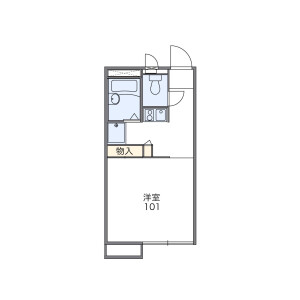 1K Apartment in Kotabe - Fukuoka-shi Sawara-ku Floorplan