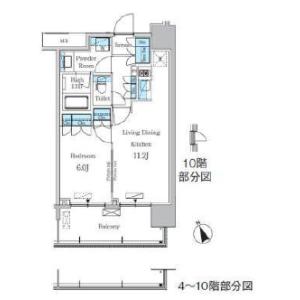 1LDK Mansion in Kotobuki - Taito-ku Floorplan