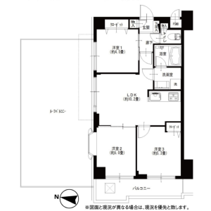 3LDK {building type} in Motobuto - Saitama-shi Urawa-ku Floorplan