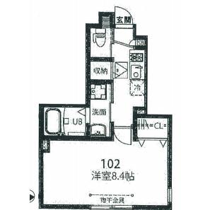 1K Mansion in Mishuku - Setagaya-ku Floorplan