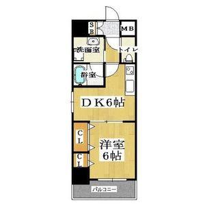 1DK Mansion in Daikoku - Osaka-shi Naniwa-ku Floorplan