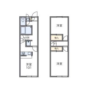 2DK Apartment in Namikicho - Narita-shi Floorplan