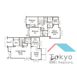 3LDK Town house in Miyamae - Suginami-ku Floorplan