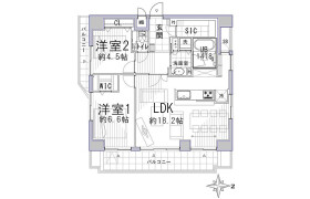 2LDK {building type} in Komusubidanacho - Kyoto-shi Nakagyo-ku