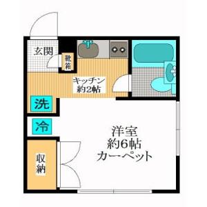 1R Apartment in Daizawa - Setagaya-ku Floorplan