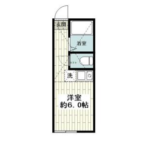 横浜市磯子区 丸山 1R アパート 間取り