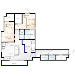 2LDK Apartment in Kita5-jonishi(1-24-chome) - Sapporo-shi Chuo-ku Floorplan