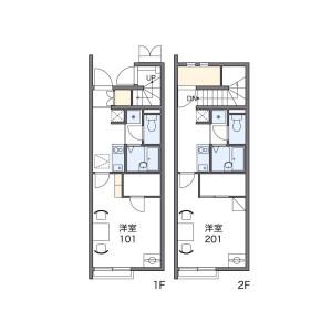 1K Apartment in Chuocho - Higashikurume-shi Floorplan