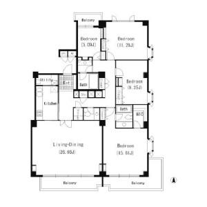 澀谷區広尾-4LDK公寓 房間格局