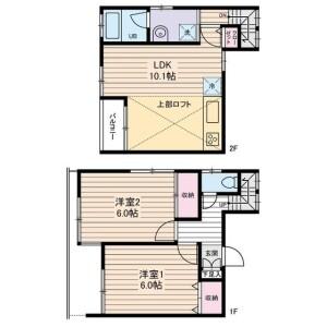 2LDK Apartment in Kikuna - Yokohama-shi Kohoku-ku Floorplan