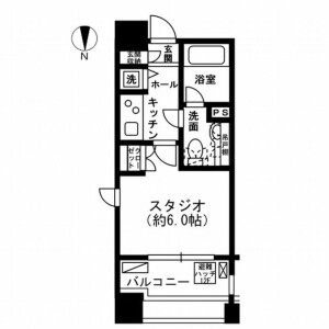 1K Mansion in Ichigayahommuracho - Shinjuku-ku Floorplan