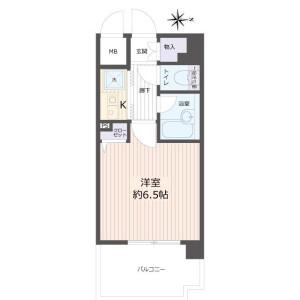 1K Apartment in Miyahara - Osaka-shi Yodogawa-ku Floorplan
