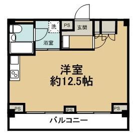 1R Mansion in Enokigaoka - Yokohama-shi Aoba-ku Floorplan