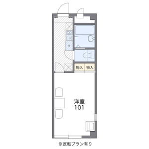 1K Mansion in Ainocho - Kyoto-shi Shimogyo-ku Floorplan