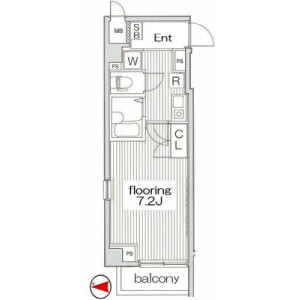 1K Mansion in Honcho - Nakano-ku Floorplan