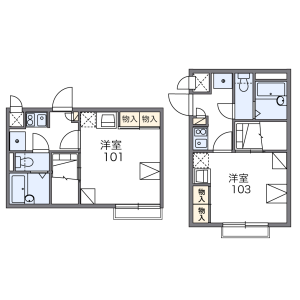 1K Apartment in Fujimicho - Yokosuka-shi Floorplan