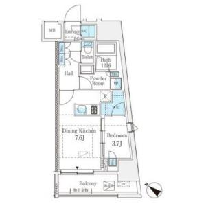 1DK Mansion in Higashi - Shibuya-ku Floorplan