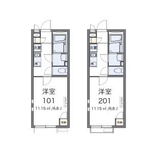 1K Apartment in Nakamachi - Nishitokyo-shi Floorplan