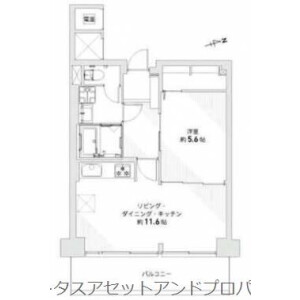 1LDK Apartment in Ogi - Adachi-ku Floorplan