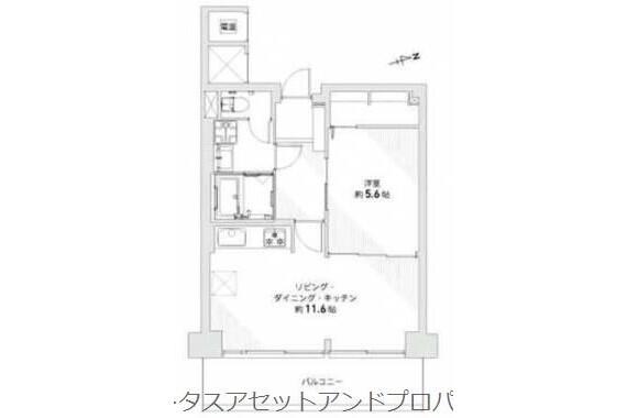 1LDK Apartment to Buy in Adachi-ku Floorplan