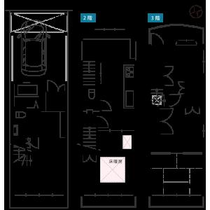 3LDK {building type} in Tokiwa kubomachi - Kyoto-shi Ukyo-ku Floorplan