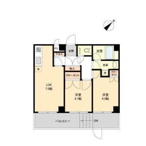 2LDK Mansion in Fujimidai - Kunitachi-shi Floorplan