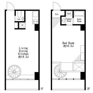 1LDK Apartment in Sasazuka - Shibuya-ku Floorplan