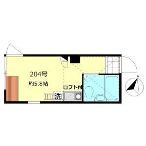1R Apartment in Kitakoiwa - Edogawa-ku Floorplan