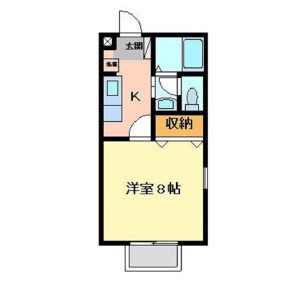 1K Apartment in Renjakucho - Kawagoe-shi Floorplan