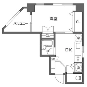 1DK Mansion in Higashinippori - Arakawa-ku Floorplan
