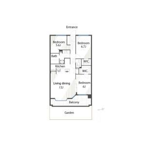 3LDK {building type} in Ebisu - Shibuya-ku Floorplan