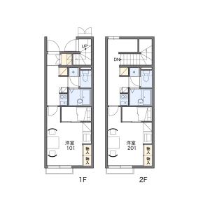 1K Apartment in Tabiishi - Kasuya-gun Sue-machi Floorplan