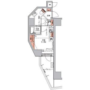 1R Mansion in Mita - Minato-ku Floorplan