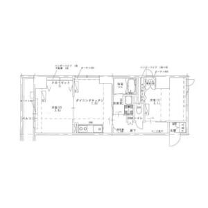 2DK Mansion in Minato - Chuo-ku Floorplan