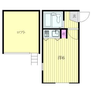 1R Apartment in Inokashira - Mitaka-shi Floorplan