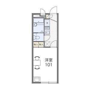 1K Apartment in Toyodacho - Kawagoe-shi Floorplan